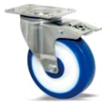 Medium Duty Series: Single Ball Bearing TPE Castors